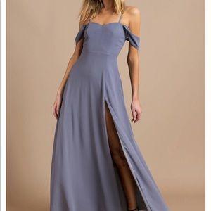 Tobi see you again slate maxi bridesmaid dress